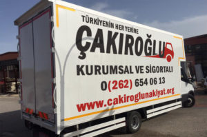 Çakıroğlu evden eve nakliyat şehir içi taşıma.